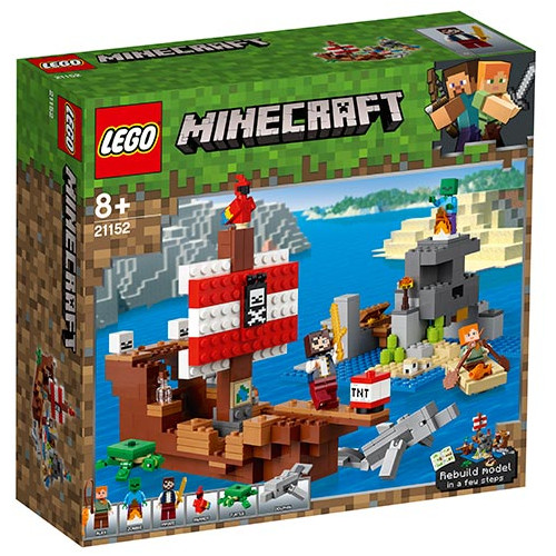 LEGO Minecraft Aventura Corabiei de Pirati, 21152, LEGO