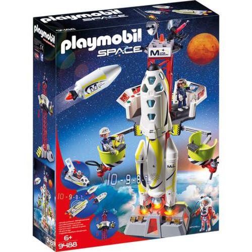 Set de Constructie Racheta Spatiala cu Lansator  - Space, Playmobil