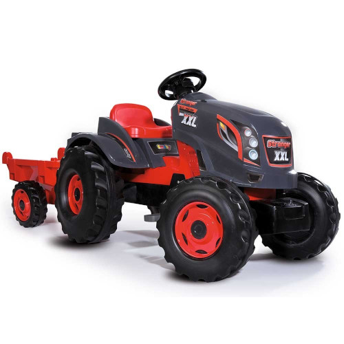 Tractor cu Pedale si Remorca Stronger XXL, Smoby