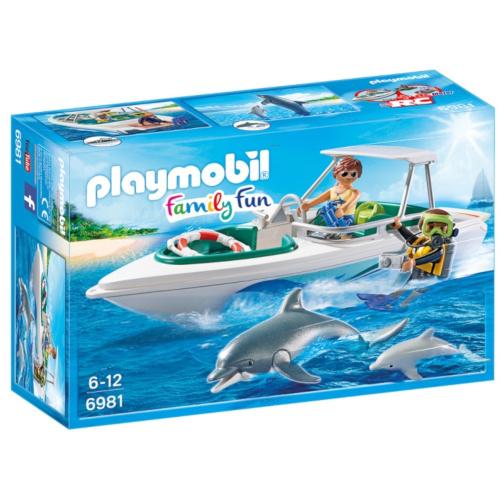 Set de Constructie Barca de Viteza - Family Fun, Playmobil