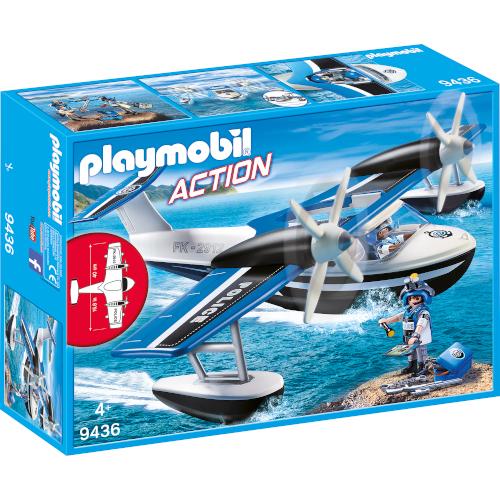 Set de Constructie Hidroavionul Politiei - Action, Playmobil