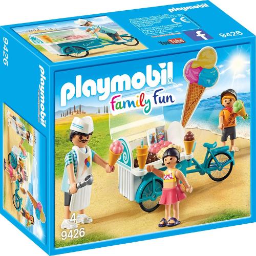 Set de Constructie Carucior cu Inghetata - Family Fun, Playmobil