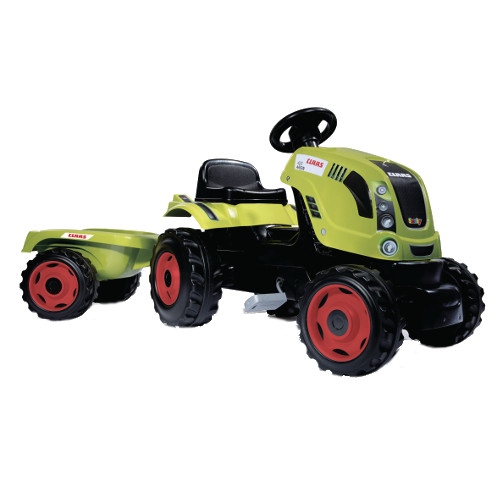 Tractor cu Pedale si Remorca Claas Farmer XL, Smoby