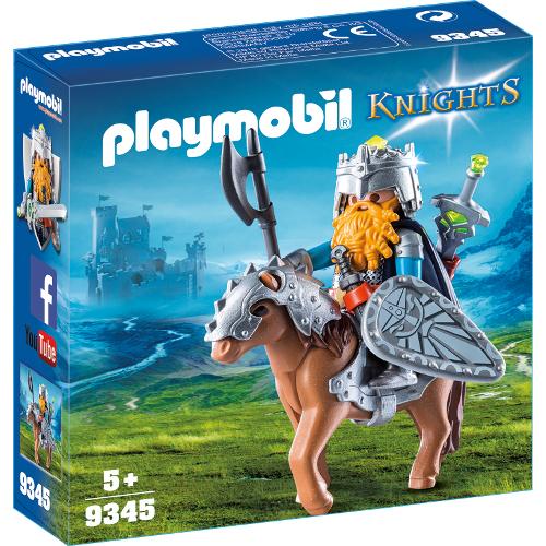 Set de Constructie Luptator Pitic cu Ponei - Knights, Playmobil