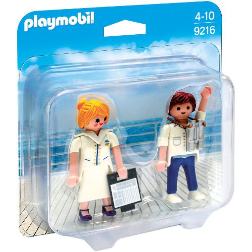 Set  2 Figurine Ofiteri Nava de Croaziera, Playmobil