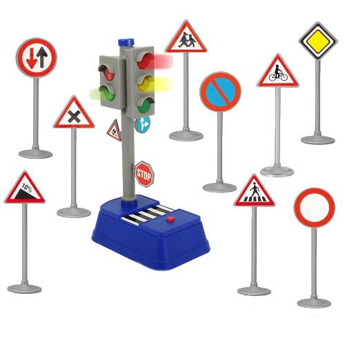 Set Semafor City Traffic cu Semne Rutiere, Dickie Toys
