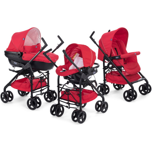 Carucior 3 in 1 Trio Sprint Red Passion, Chicco