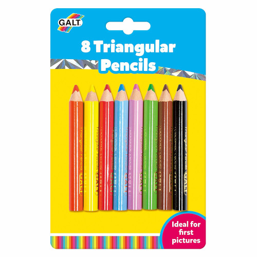 Set 8 Creioane de Colorat Triunghiulare, Galt
