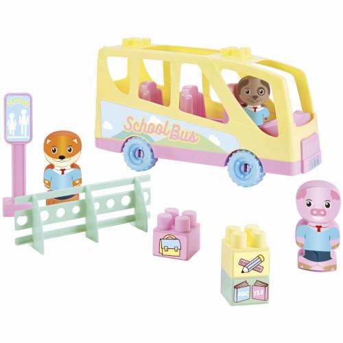 Joc de Construit Autobuzul Scolar al lui Twee Pop, Ecoiffier