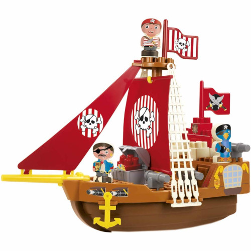 Set Cuburi de Construit Barca Piratilor Abrick, Ecoiffier