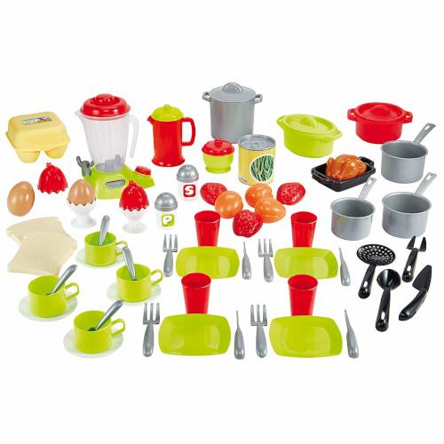 Set 70 Vase cu Mixer in Cutie de Depozitare Colectia 100% Chef, Ecoiffier