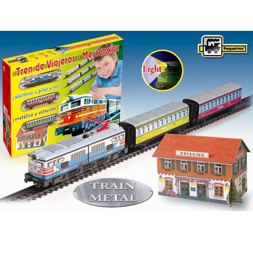 Trenulet Electric cu Far Colorat, Pequetren