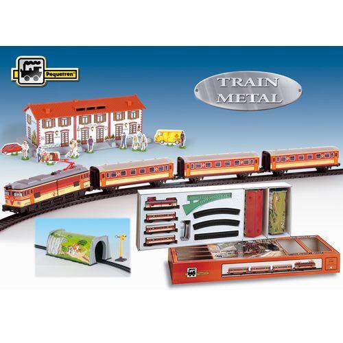 Trenulet Electric cu Statie si Tunel, Pequetren
