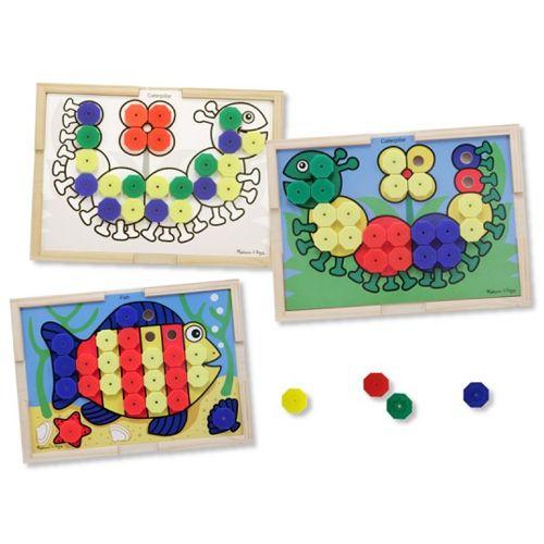 Mozaic din Lemn cu Culori, Melissa & Doug