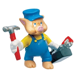 Bullyland - Figurina Little Pigs Mechanic