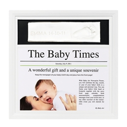 Baby Art - Rama cu Kit de Amprentare NewsPrint White and Black