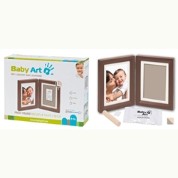 Print Frame White - Print Frame Brown And Taupe-Beige
