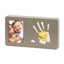 Baby Art - Duo Paint Print Frame Taupe And Sun