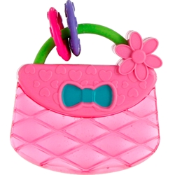 Bright Starts - Jucarie de Dentitie Pretty in Pink Carry and Teethe Purse