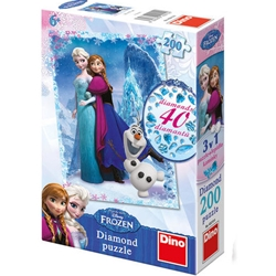 Dino Toys - Puzzle - Frozen - 200 piese
