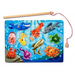 Melissa and Doug - Joc de Pescuit Magnetic Animale Marine
