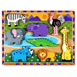 Melissa and Doug - Puzzle Lemn in Relief Safari