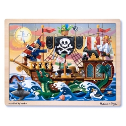 Melissa and Doug - Puzzle de Lemn Aventura Piratilor