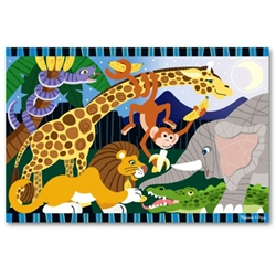 Melissa and Doug - Puzzle de Podea Safari Social