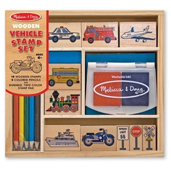 Melissa and Doug - Set Stampile Vehicule