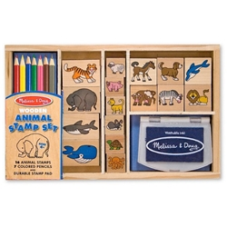 Melissa and Doug - Set Stampile cu Animale