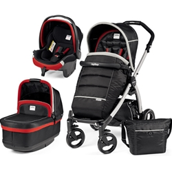 Peg Perego - Carucior 3 in 1 Book Plus Black Silver POP-UP Synergy