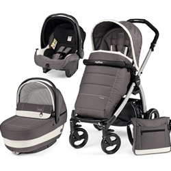 Peg Perego - Carucior 3 in 1 Book Plus Black Silver Completo SL