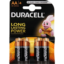 Duracell - Set 4 Baterii Tip AA Long Lasting Power