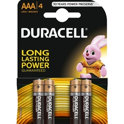 Duracell - Set 4 Baterii Tip AAA Long Lasting Power