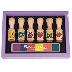 Melissa and Doug - Set de Stampile Happy Handle