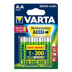 Varta - Set 4 Acumulatori AA 2600 mAh Ready to Use