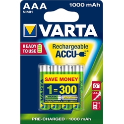 Varta - Set 4 Acumulatori AAA Ready To Use 1000 mAh