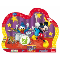 Dino Toys - Puzzle cu Rama Mickey si Donald in Concert 25 Piese