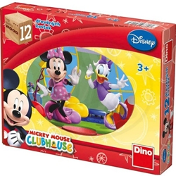 Dino Toys - Puzzle Cubic Mickey Mouse 12 Piese
