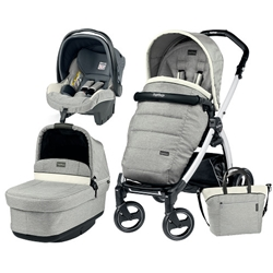 Peg Perego - Carucior 3 in 1 Book Plus S Black White POP-UP Elite