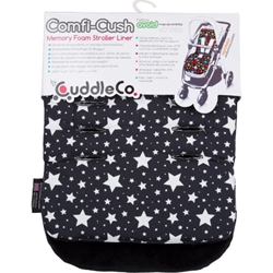 CuddleCo-Saltea Carucior Comfi-Cush Black and White Stars