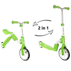 Kidz Motion - Trotineta Transformabila 2 in 1 Motion Verde