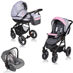 Vessanti - Carucior Crooner 3 in 1 Pink Gray