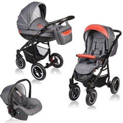 Vessanti - Carucior Crooner 3 in 1 Red Gray