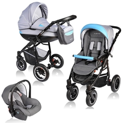 Vessanti - Carucior Crooner 3 in 1 Blue Gray