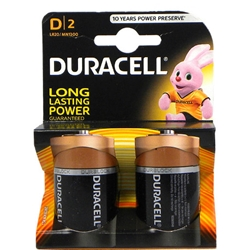 Duracell - Set 2 Baterii Tip D Long Lasting Power