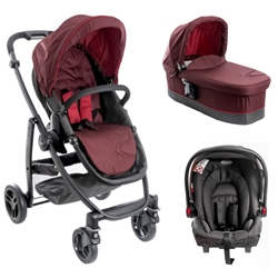 Graco - Carucior Evo II 3 in 1 Bitter Chocolate Fiery Red