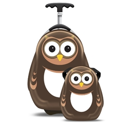 Cuties and Pals - Set Troler si Ghiozdan Pipi the Owl