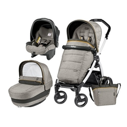 Peg Perego - Carucior 3 in1 Book Plus 51 S Black&White Completo Elite