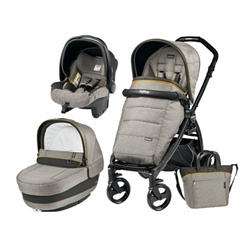 Peg Perego - Carucior 3 in 1 Book Plus Black Matt Completo Elite